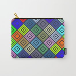 Modern Multicolor Patterns Carry-All Pouch