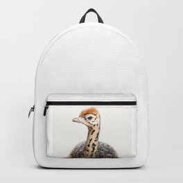 Baby Ostrich, Ostrich Chick, Baby Animals Art Print By Synplus Backpack