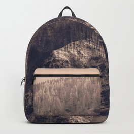 Early Hours - Winter Mountain Forest Snow Nature Photography Backpack