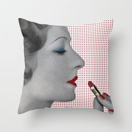 BOLD LIPSTICK and LOVE Throw Pillow