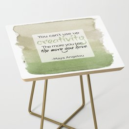 Inspirational Quote - Maya Angelou - Watercolor Side Table