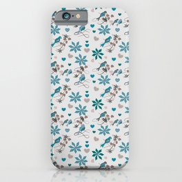 Birds in Blue iPhone Case