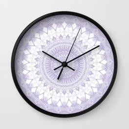 Boho Pastel Purple Mandala Wall Clock