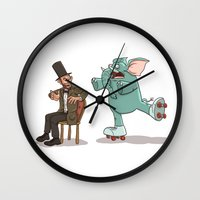 lincoln Wall Clocks featuring Lincoln by The Drawbridge