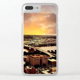 Downtown Portland Oregon Bridge View Clear iPhone Case