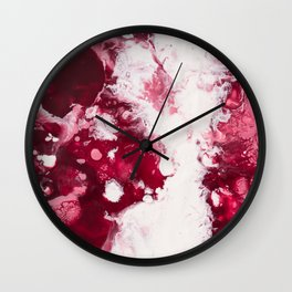 Color Commentary #3: Valentine's Gone Wrong (Dark Pink & Light Pink) [Robyn Miller] Wall Clock