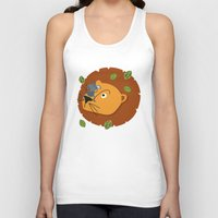 leon Tank Tops featuring Mouse&Leon by Lara Savoia