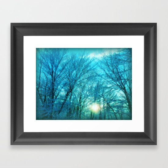 Landscape ~ Winter sunset Framed Art Print