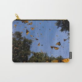 Monarchs butterflies fly Carry-All Pouch