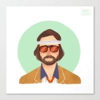 tenenbaum Canvas Prints featuring Richie Tenenbaum by Galaxyspeaking