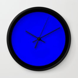 blue hole Wall Clock