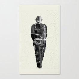 A city shaped man Canvas Print