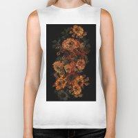 flower pattern Biker Tanks featuring Flower Pattern by Eduardo Doreni