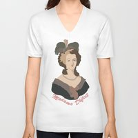 marie antoinette V-neck T-shirts featuring Antoinette by HistoryMistress