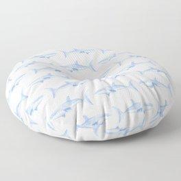 Blue Shark Pattern Floor Pillow