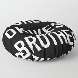 World's Okayest Brother White Typography Floor Pillow