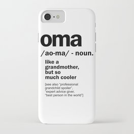 Oma Gift For Grandma Women Birthday Mother Day Gift iPhone Case
