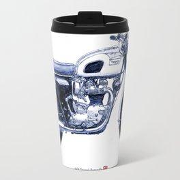 1970 Triumph Bonneville Drawing Travel Mug
