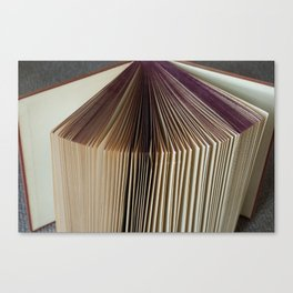 Fanned Book Canvas Print