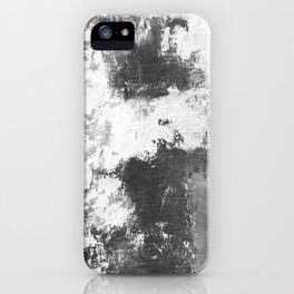 Black and white street abstract art iPhone Case