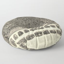 Aerial View of Haverhill, Massachusetts (1914) Floor Pillow