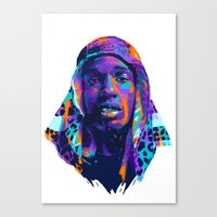 asap rocky Canvas Prints featuring NEXTGEN RAPPERS: ASAP ROCKY by mergedvisible