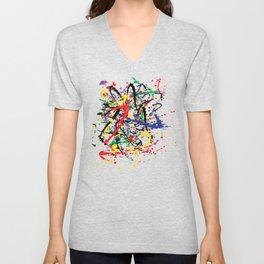 Pollock Remembered by Kathy Morton Stanion Unisex V-Neck