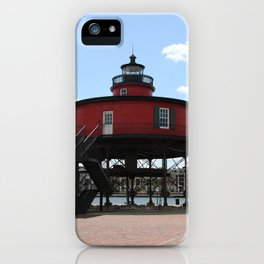 Seven Foot Knoll Lighthouse iPhone Case