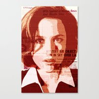 scully Canvas Prints featuring Dana Scully by Laura
