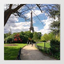 Eiffel tower photo Canvas Print