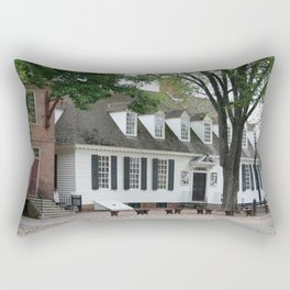 White Clapboard House - Colonial Williamsburg Rectangular Pillow