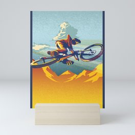 Retro Mountain Bike Poster/ Illustration / fine art print MY AIR MILES Mini Art Print