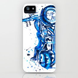 Blue Motorcycle iPhone Case