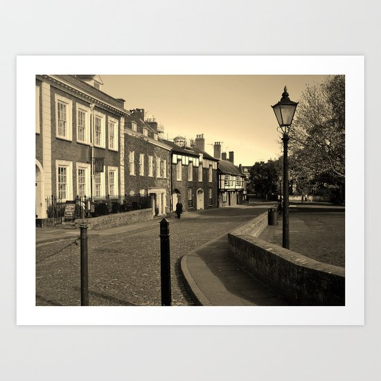 CATHEDRAL CLOSE EXETER DEVON Art Print
