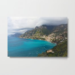 Castal Town, Positano, Campania, Italy Metal Print