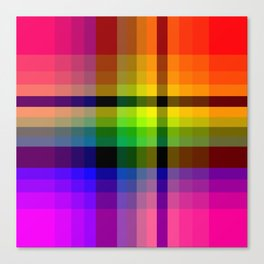Color wheel plaid Canvas Print