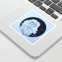 Introvert Cat Lady Sticker
