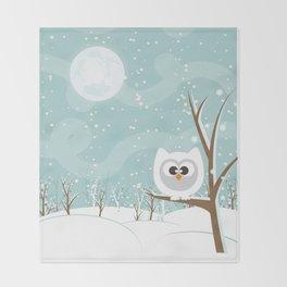 Arctic Owl Throw Blanket