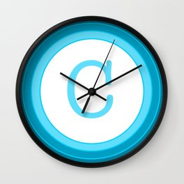 Blue letter C Wall Clock
