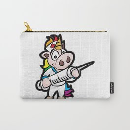 UNICORN VACCINATING Nurse Doctor Vaxxer Vaccine Carry-All Pouch