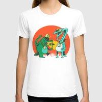 rap T-shirts featuring Kaiju Rap Battle by Morkki