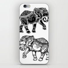 Elephants Mandala iPhone Skin