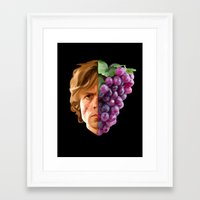 tyrion Framed Art Prints featuring The God of Tits and Wine by Han Jihye