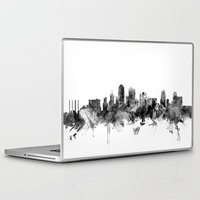 kansas city Laptop & iPad Skins featuring Kansas City Skyline by artPause