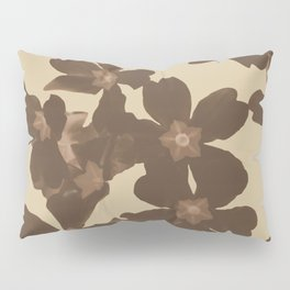Toffee Soybean Primrose Pattern Pillow Sham