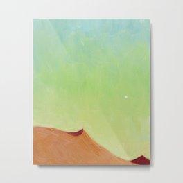 Green Baby Dunes Metal Print