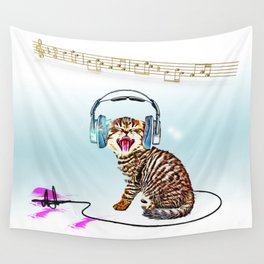 Music Cat Wall Tapestry