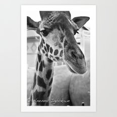 Long neck Art Print