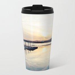 Pwllheli Marina - Mirror Reflection 01 Travel Mug