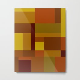 Abstract #385 Golden Harvest Metal Print